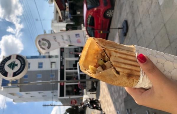 Amazing pitta sandwich